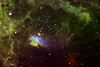 "NGC6357 Nebula in colour mapped Narrowband.<br /> Close up of the area around Star cluster Pismis 24.<br /> Ha:SII:Ha:OIII mapped as LRGB. Ha 10hrs bin1 20min exposures , SII and OIII 1.6hrs each bin2 10min exposures.<br /> Taken on a 10""RCOS RC at f9 (2275mm FL), PME mount and ST10XME in urban skies . Off axis guided."